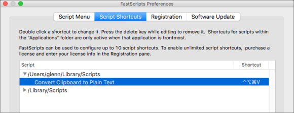 mac911 fastscripts keyboard shortcuts