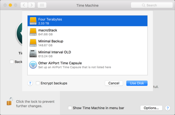 mac911 time machine add drive