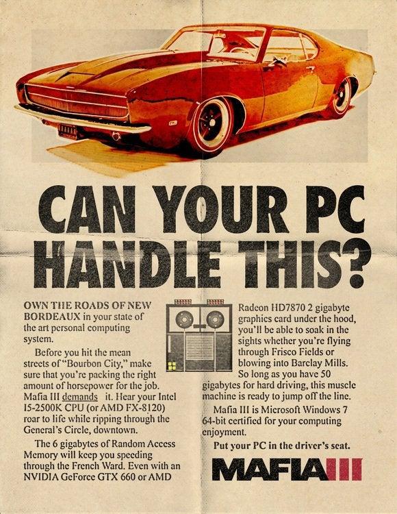 Mafia PC Specs