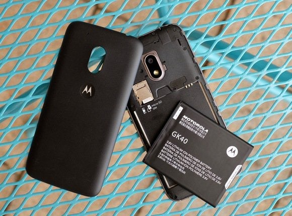 moto g4 back off with battery removed