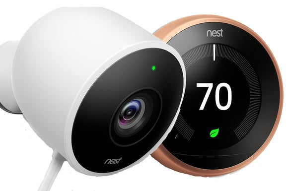 Nest Cam Outdoor with Nest Thermostat
