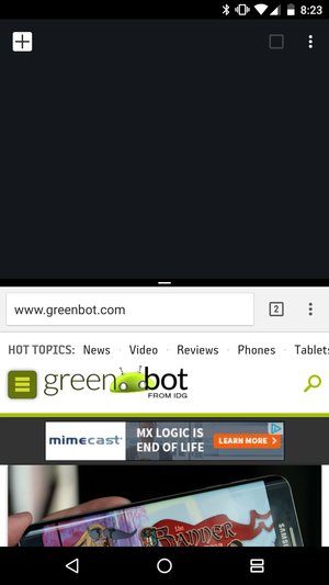 new chrome tab