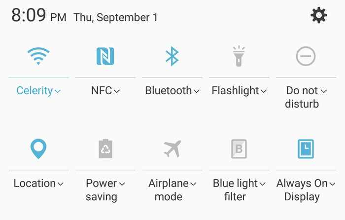 note 7 tips quick settings