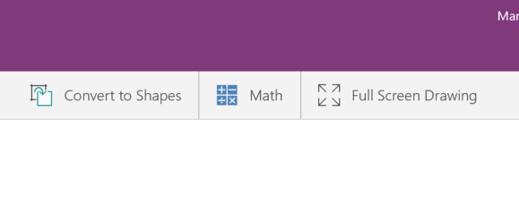 onenote math toolbar
