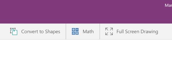 onenote math toolbar