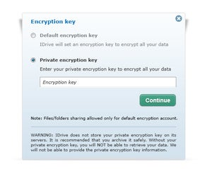 online backup encryption idrive encryption key copy