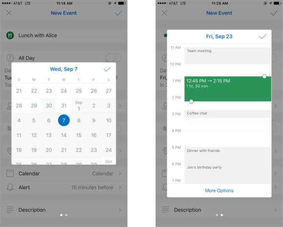outlook improved calendar