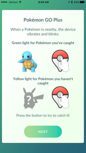pokemon go plus tutorial