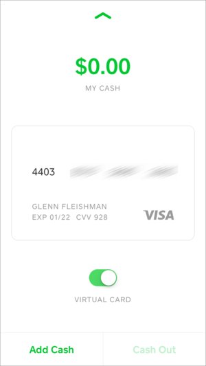 privatei square cash visa