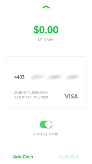 privatei square cash visa