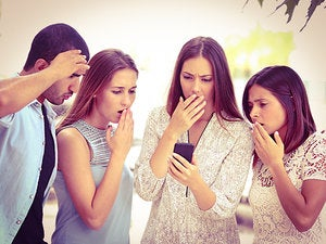 smartphone shocked group