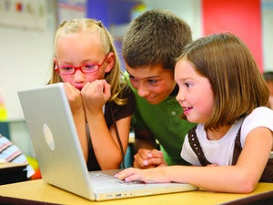 students laptop school