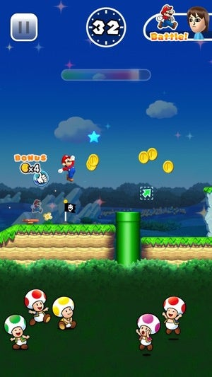 super mario run screen2