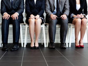 Group of people waiting for interview