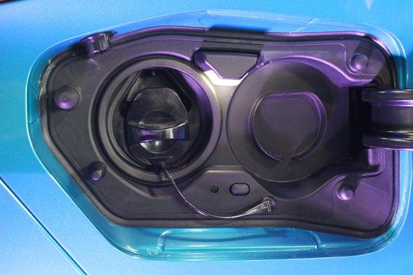 toyota prius prime sept 2016 charging port detail