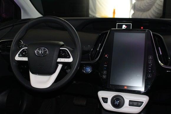 toyota prius prime sept 2016 cockpit detail