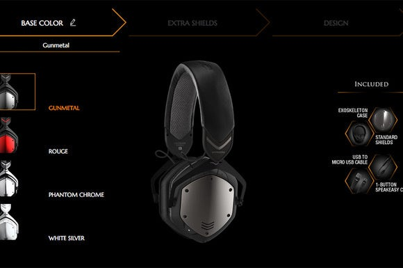 You can customize your headphones online with V-Moda's step-by-step customization.