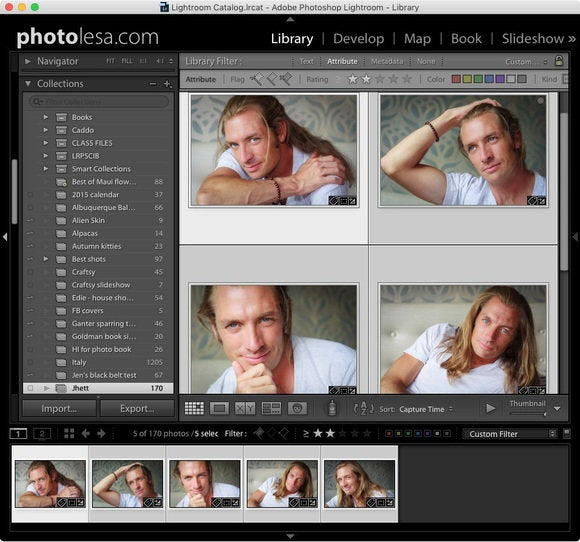 lightroom select multiple photos export