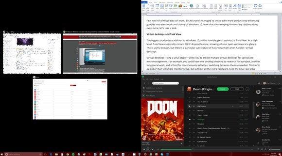 windows 10 snap quadrants