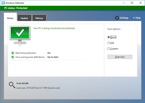 How to turn off Windows Defender's enhanced notifications in