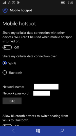 Windowsphonemobilehotspot Medium on Windows 10 Wireless Connection