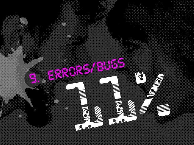 9 errors bugs