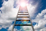 cloud ladder climb sky