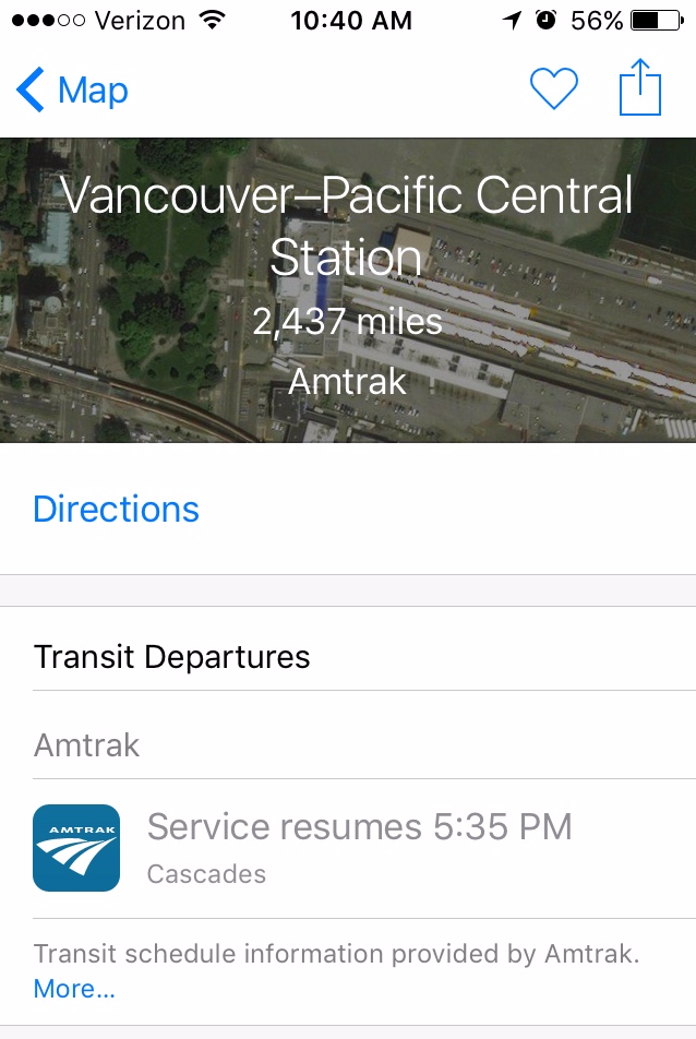 Apple Maps Now Supports Amtrak Routes Across The US Macworld - Amtrak map of routes in us
