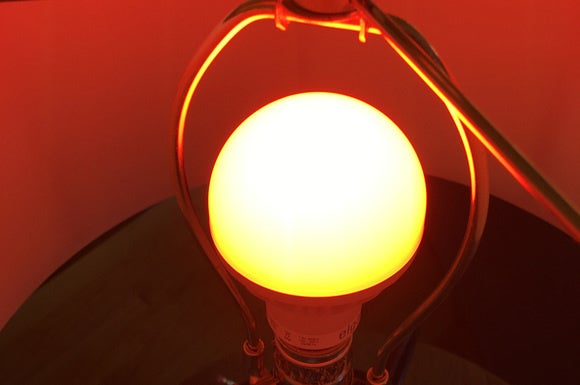 Elgato Avea color LED smart bulb in a lamp