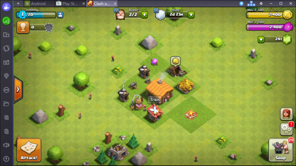 bluestacks clash of clans