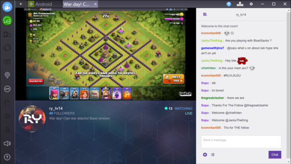 bluestacks stream