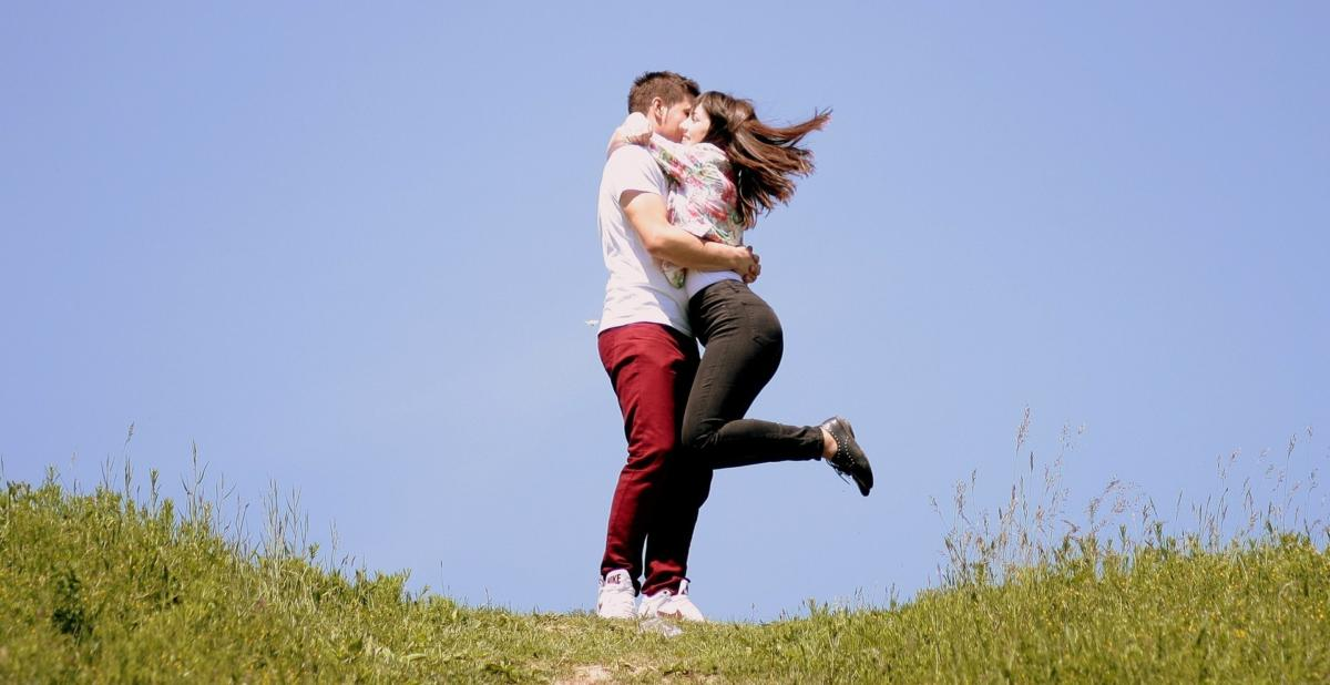 couple hug love