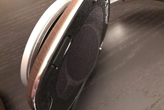 Detail view of the B&W P9 Signature angled drivers
