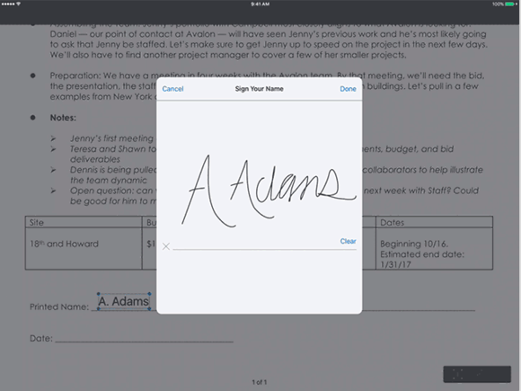 dropbox ios pdf signing