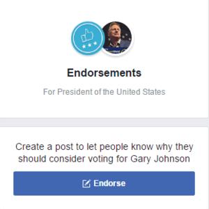 facebookendorse