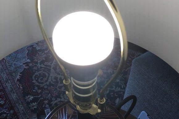 Flux color LED smart bulb in lamp