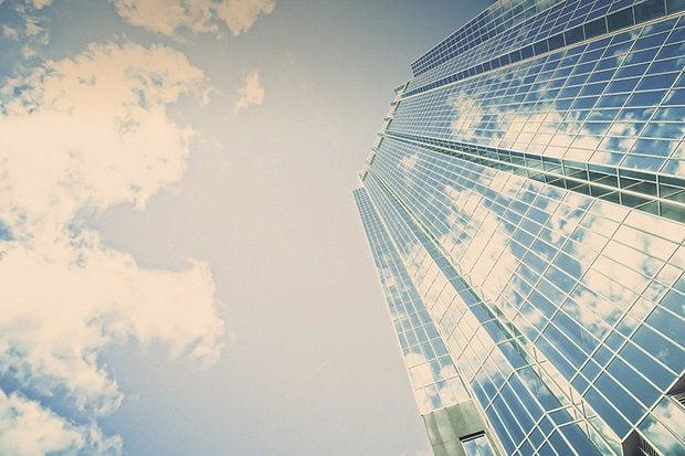 glass office cloud