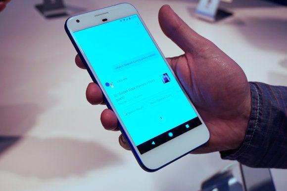 google assistant pixel phone lighter