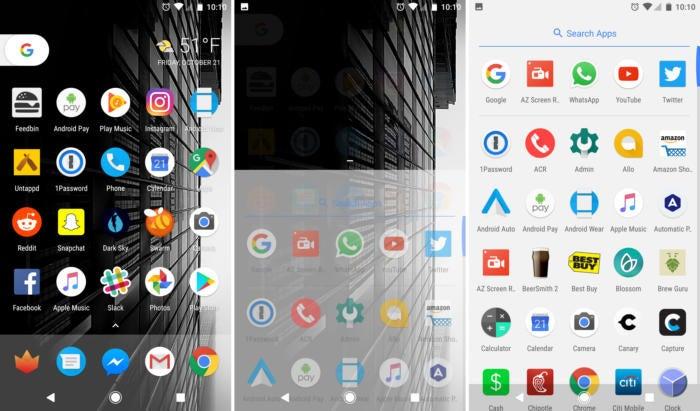 google pixel app drawer