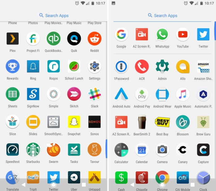 google pixel app drawer free of bloatware
