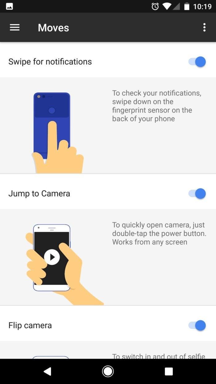 google pixel fingerprint reader trackpad in moves