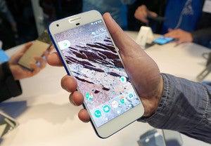 google pixel in hand