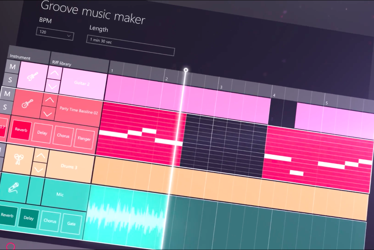 groove music maker sizzle