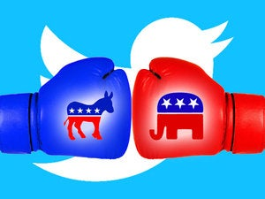 hillary clinton donald trump republican democrat election twitter