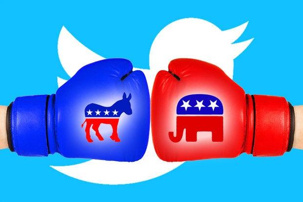 hillary clinton donald trump republican democrat election twitter