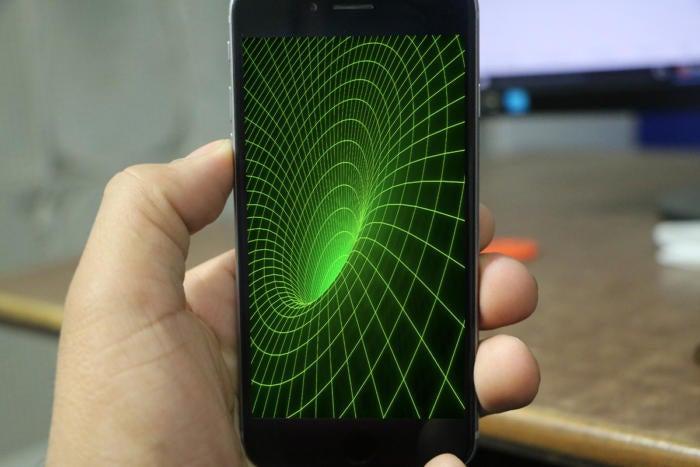 iphone black hole stock