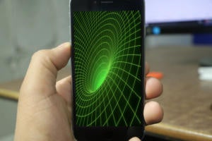 iphone black hole stock