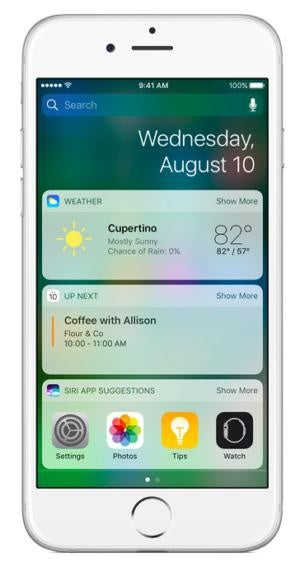 iphone7 ios10 widgets