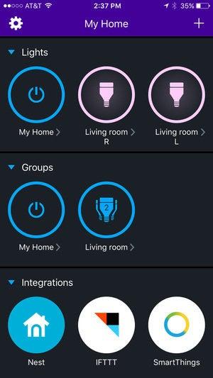 LIFX Color 1000 smart bulb app
