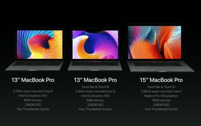 macbook pro lineup new